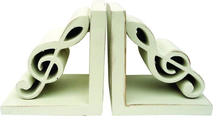 Bookends on pinterest - Treble clef bookends ...