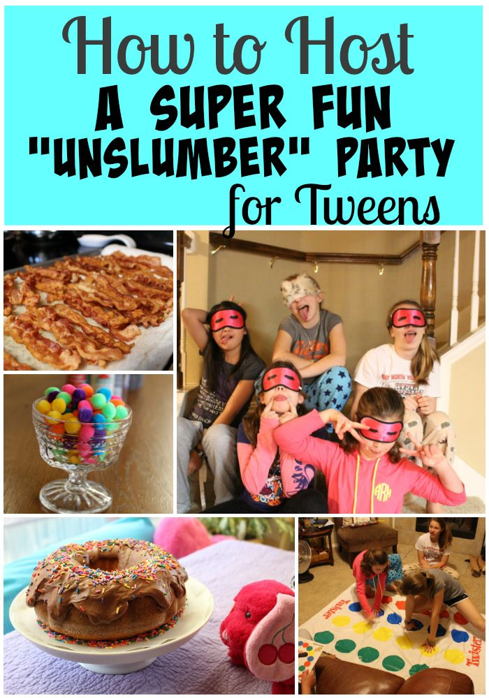 """Stressed out about planning your tween's birthday party? These 10 tips will help you plan a super fun """"unslumber"""" party for your tween."""