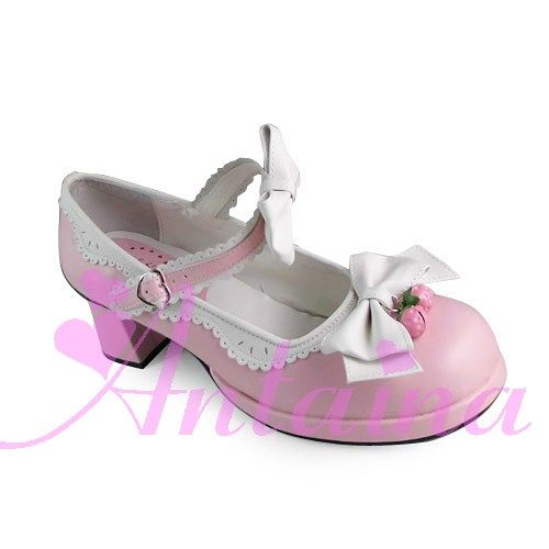 ◢ no * tai * na * ◣ LOLITA COS PUNK Heel Jordbær blondere prinsesse sko 9955 - Taobao