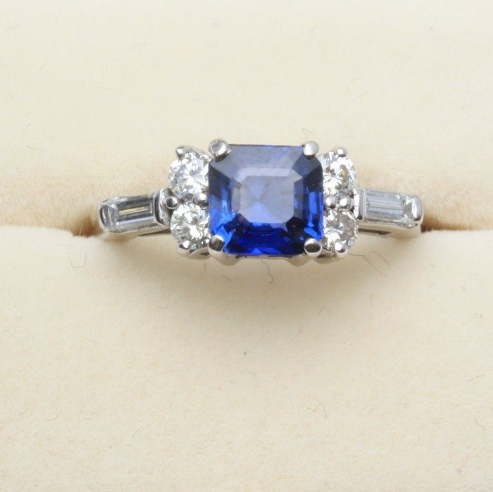 sapphire and ring weldons of dublin antique