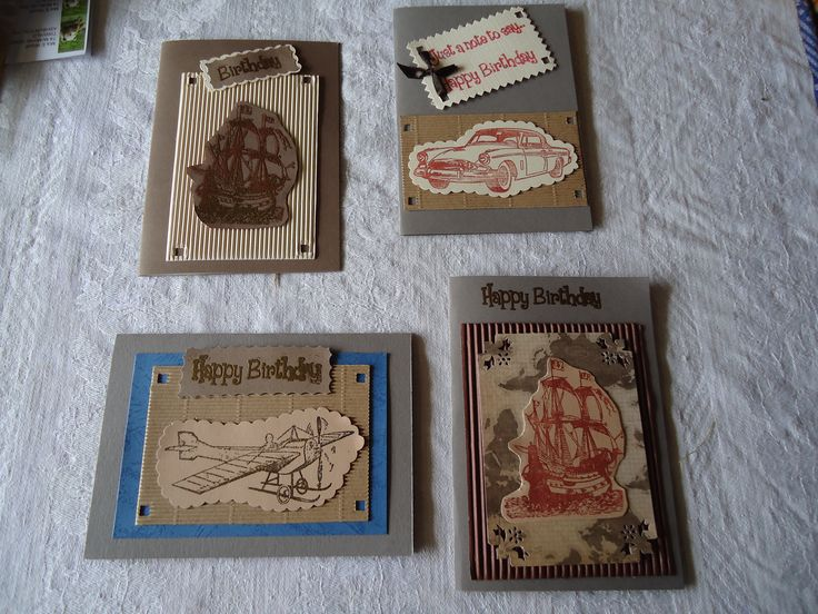 some Masculine cards I made after I found it was always them I had trouble with