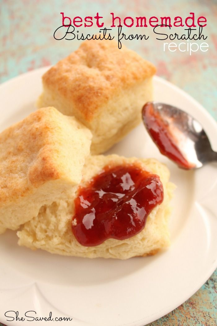 We love our biscuits around here! It is always nice to have a go to biscuit recipe, and this is the best Biscuits from Scratch Recipe that I have tried.  Get the recipe from She Saved.