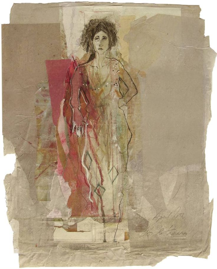 """Saatchi Art Artist Ute Rathmann; figurative painting, """"Hommage à Klimt VII"""" #art 