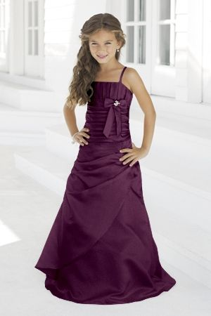 Junior Bridesmaid Dresses, Flower Girl, Special Occasion Dresses by Alexia Designs in Plum
