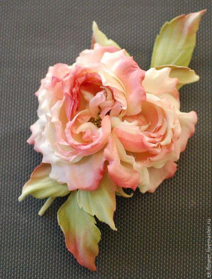 """Цветы ручной работы. Ярмарка Мастеров - ручная работа. Купить Цветы из ткани. Цветы из шелка. Роза """"Елена"""". Handmade."""