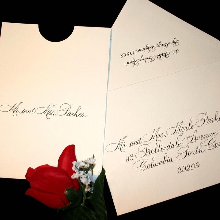 how to return address wedding envelopes%0A Calligraphy Wedding Envelope Addressing Rook Script