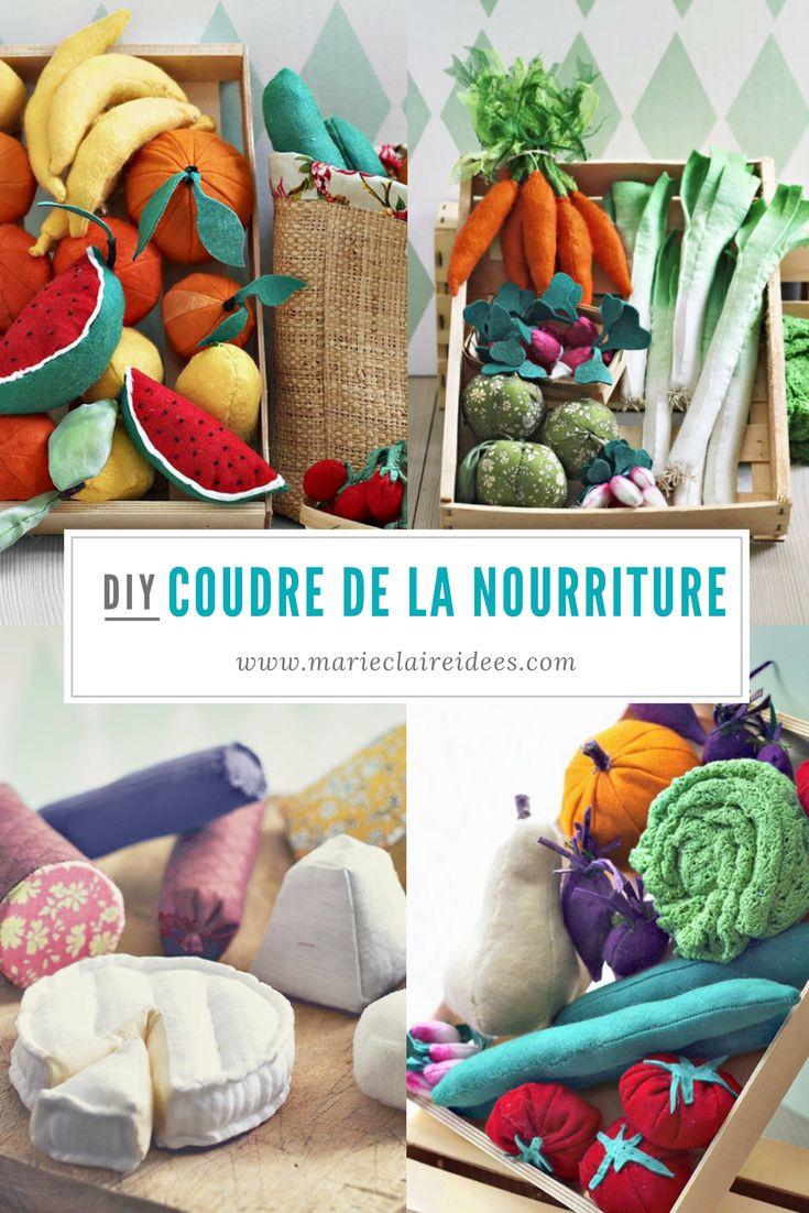 tuto pour coudre de la nourriture pour les enfants - patrons de couture - nourriture jouets - Marie Claire Idées