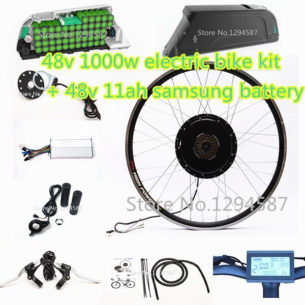 """490.00$  Watch now - http://alidpk.worldwells.pw/go.php?t=32310318708 - """"The 50kph speed 20""""""""-28"""""""" Ebike kit 48v 1000w electric bike kit with 48v 12ah dolphin lithium battery pack"""""""