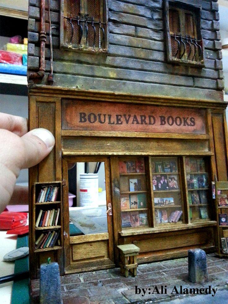 """Book Store Diorama """"work in progress by Ali Alamedy""""                                                                                                                                                                                 Plus"""