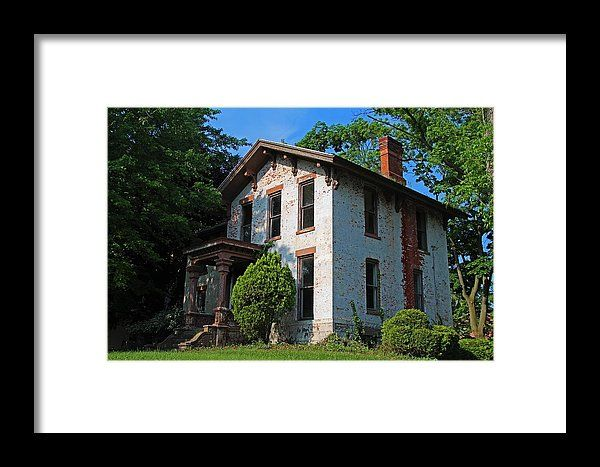Old West End Mary Manse College Terrault House Framed Print By Michiale Schneider
