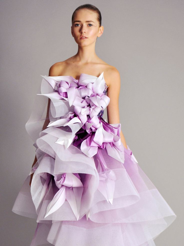 PANTONE Color of the Year 2014 - Radiant Orchid Fashion - Marchesa