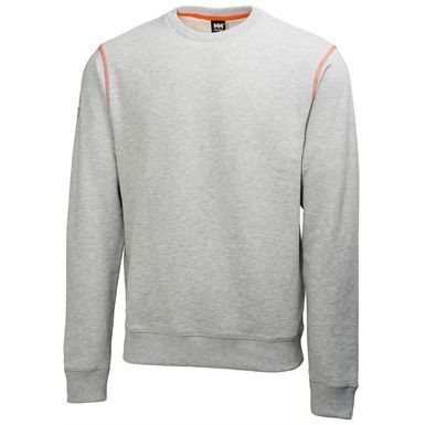 The Helly Hansen 79026 Oxford Sweater is made from 100% single jersey cotton. It features contrast flatlock stitching, seasonal graphics on arm, with ribbed cuffs and hem. Available in 4 colours.