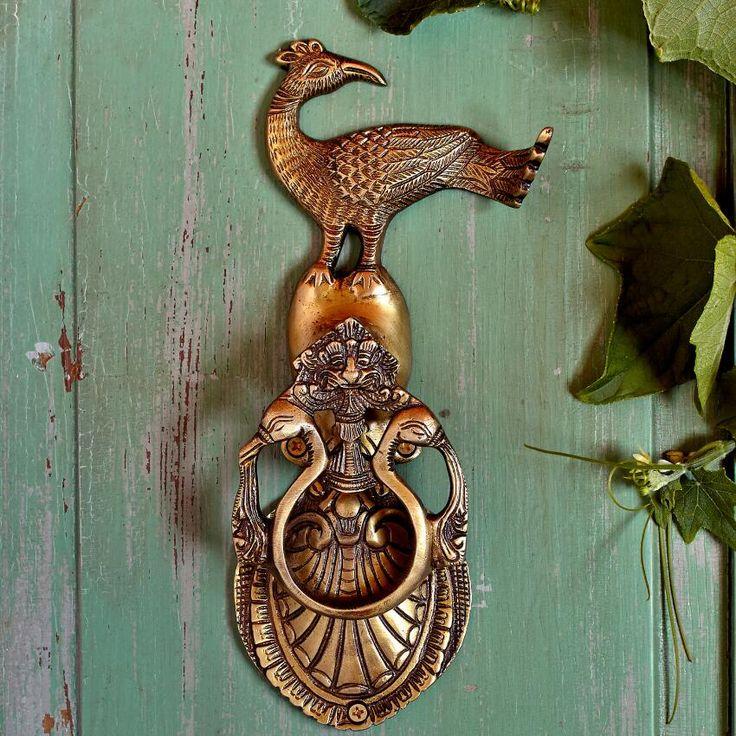 Peacock Brass Door Knocker ~ I Want This For My Front Door.