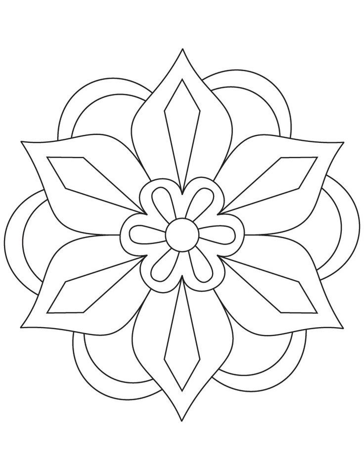 Diwali Rangoli Patterns Coloring Pages | Diwalifbcovers.