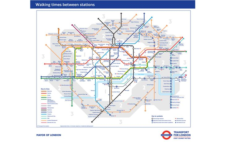 London's New Map Tells You How Long It Takes to Walk Between Tube Stations