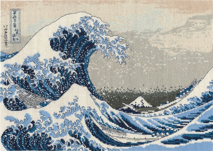 For M: The Great Wave Counted Cross Stitch Kit
