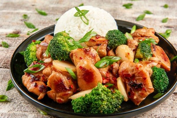 Healthy Takeout Bourbon Chicken With Chicken Thighs, Water -6276