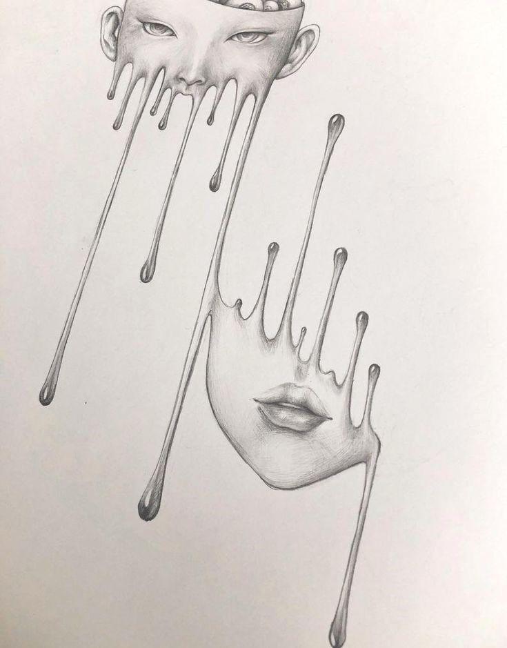 40 Simple Art Creative Lips Ideas In 2020 Creepy Drawings Cool Art Drawings Pencil Art Drawings