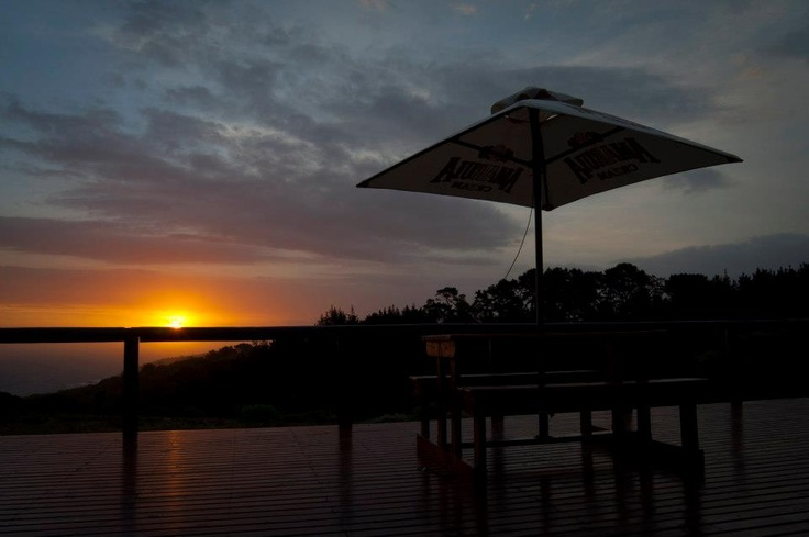 Overlooking a beautiful sunset from our deck  www.kwelanga.co.za