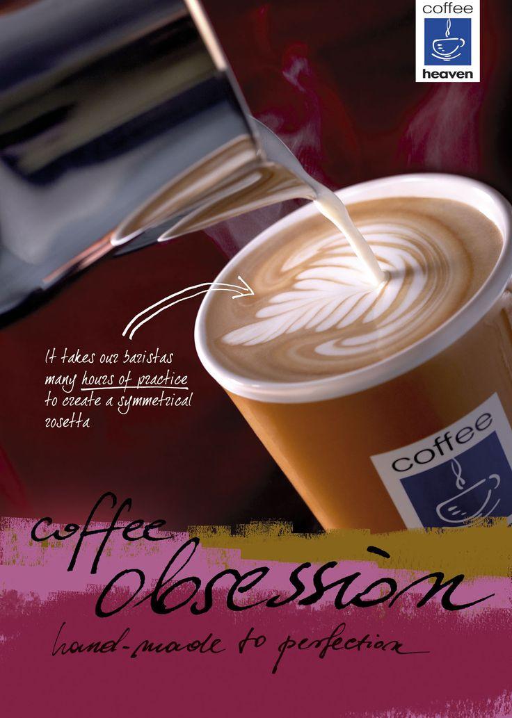 #coffeeheaven #yourplace #coffeeobsession #coffee #artlatte #latteart