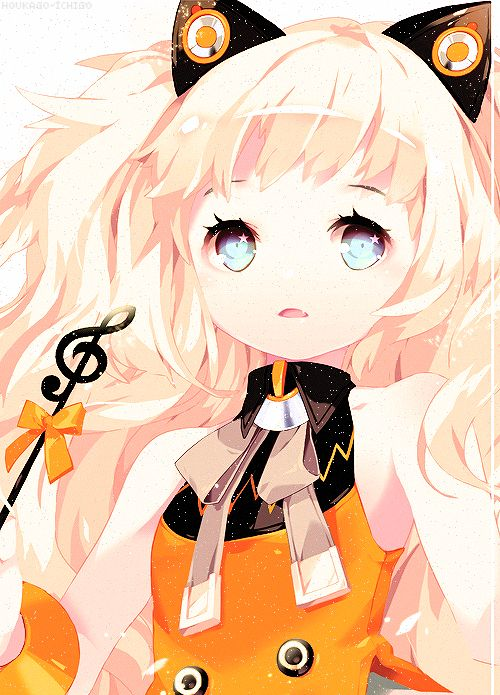 Here we have a cute anime girl named Seeu. She is vocaloid's nekomimi.