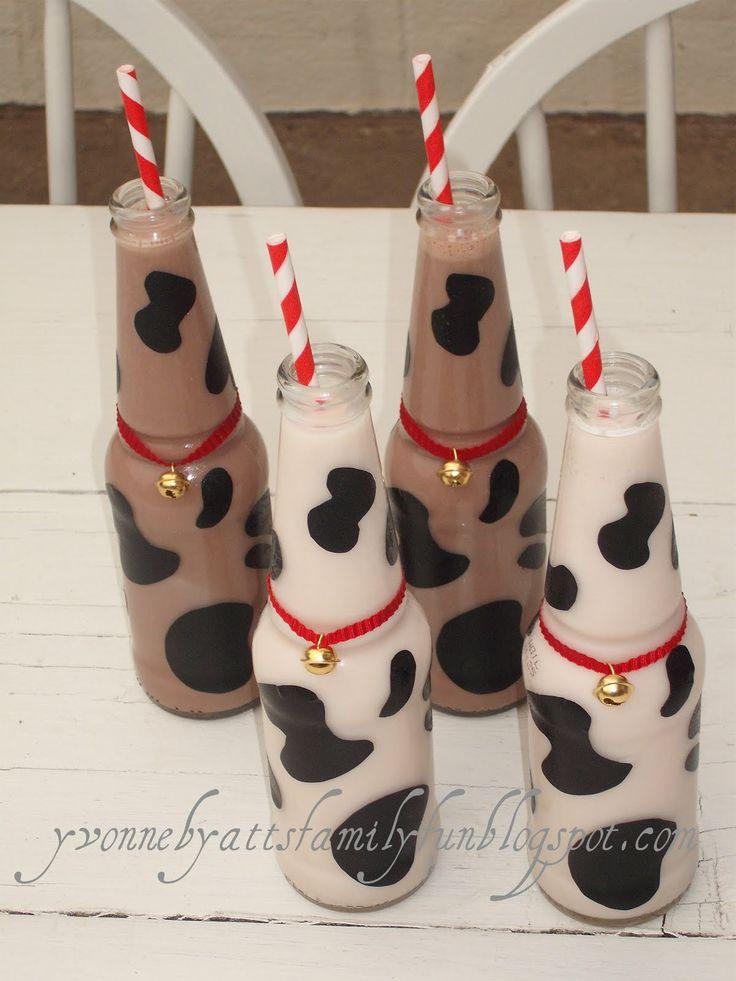 Yvonne Byatt's Family Fun: FARM / BARNYARD PARTY- Milk Bottles