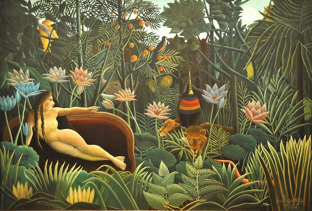 The Dream. Henri Rousseau (French, 1844-1910). 1910. MOMA, NYC by renzodionigi, via Flickr