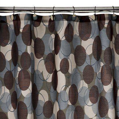 Modern Geo Fabric Shower Curtain - Multicolor (70x71)-lower level bathroom