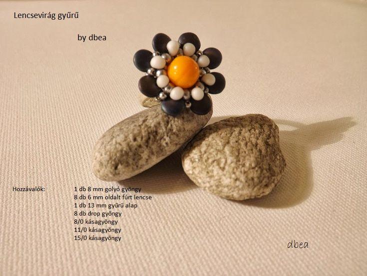 dbea: Lencsevirág gyűrű minta