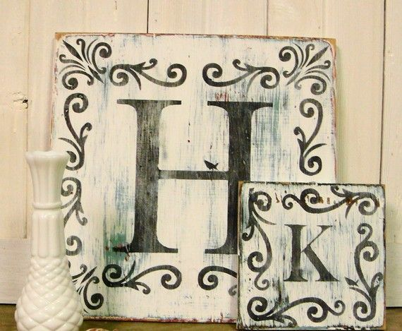 Large Shabby Chic Monogram Sign DecorMonograms Fun, Large Shabby, Signs Decor, Shabby Chic, Salvaged Wood, Crafts Projects, Monograms Signs, Crafty Ideas, Chic Monograms