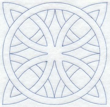 Machine Embroidery Designs at Embroidery Library! - Friendship Ring Quilting Square (Double Run)