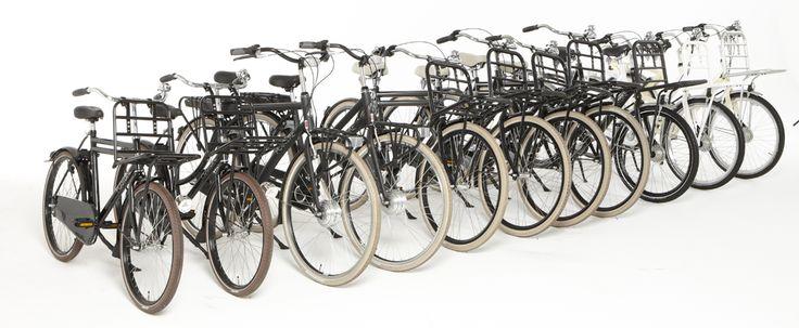 Fietsen is 'FUN' of dat nu is met een robuuste stadsfiets of met een elektrische transportfiets! 'Be a Postbike-rider!'