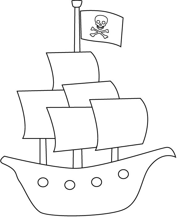 Pirate Ship Coloring Pages X