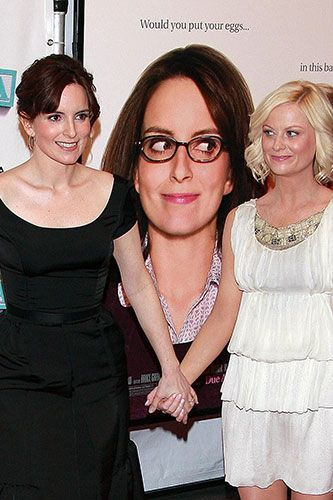 There's a third wheel in this picture, and its name is Liz Lemon 2: Baby Mama edition. Photo: Henry Lamb/BEImages.