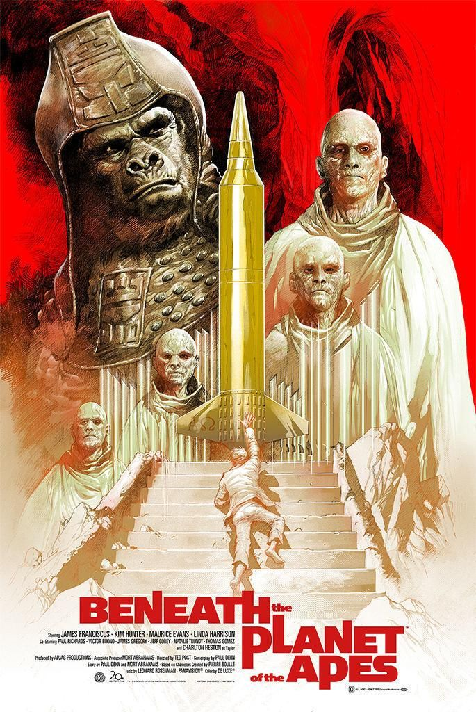 Beneath The Planet Of The Apes 1970 685 X 1024 Science Fiction Movie Posters Planet Of The Apes Old Movie Posters
