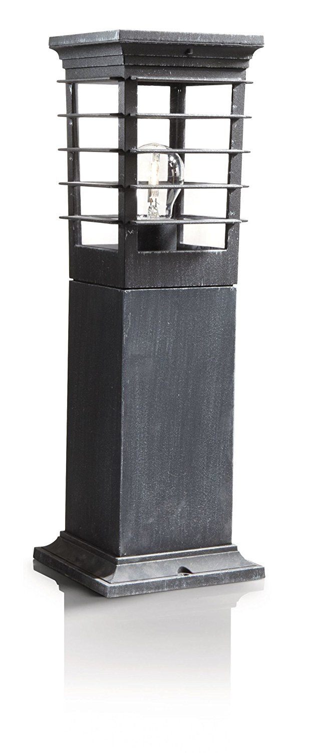 Philips MyGarden Patio Outdoor Pedestal Black And Iron Grey (Includes 1 X  53 Watts E27