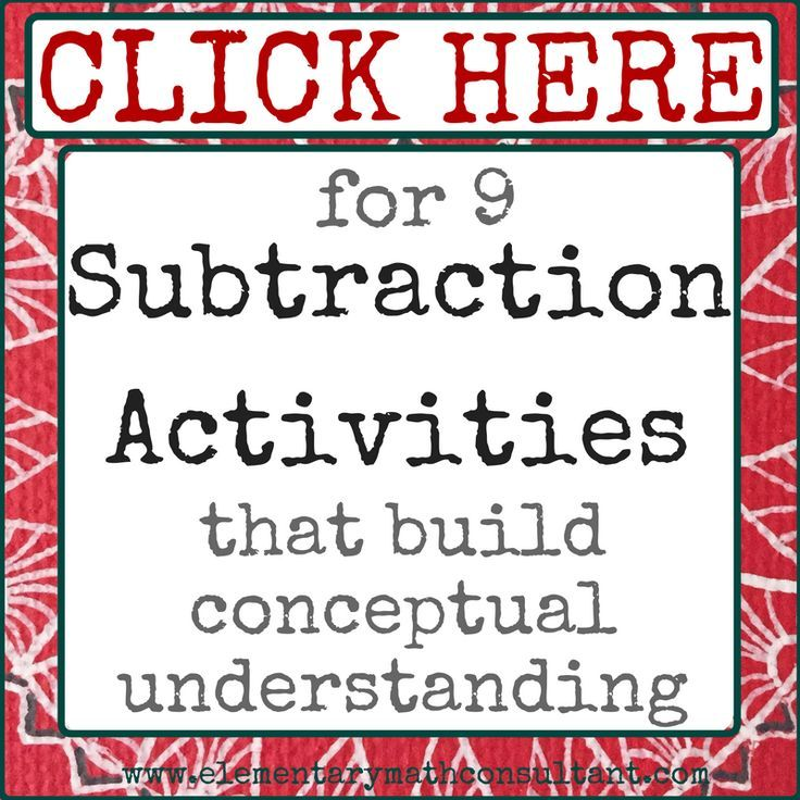 This post has tips for teaching subtraction and explains 3 strategies that are alternatives to the standard algorithm for subtraction. Elementary teachers will find teaching tips for 2nd, 3rd, 4th grade, and 5th grade. http://www.elementarymathconsultant.com