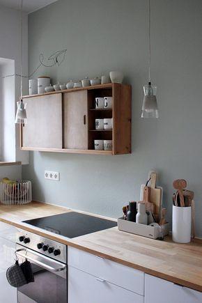 Die besten 25+ Hängeschrank küche holz Ideen auf Pinterest - k chenzeile ohne oberschr nke