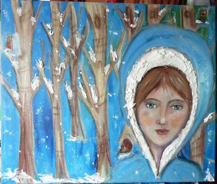 @Lynda Norton  Art after @Andrea Gomoll  FACEcinatinggirlsclass Winter add-on! Isn't that gorgeous!?