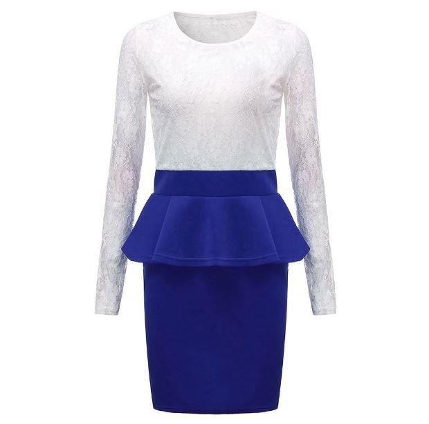 Moderní dámské peplum party krajkové šaty s tmavě modrou sukní – Velikost L Na tento produkt se vztahuje nejen zajímavá sleva, ale také poštovné zdarma! Využij této výhodné nabídky a ušetři na poštovném, stejně jako …