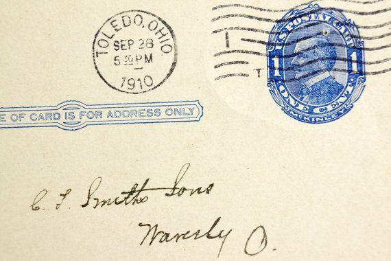 Vintage / Antique Post Card from Toledo Wheelbarrow Co.