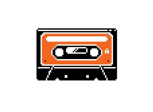 Cassette Tape Cross Stitch Pattern