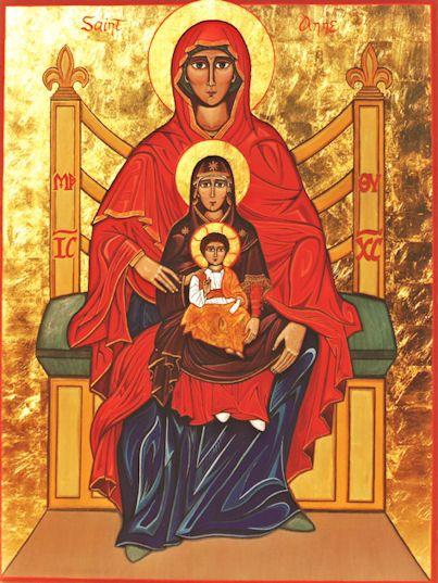 st anne and joachim sacred art | Feast of St.Ann and St. Joachim