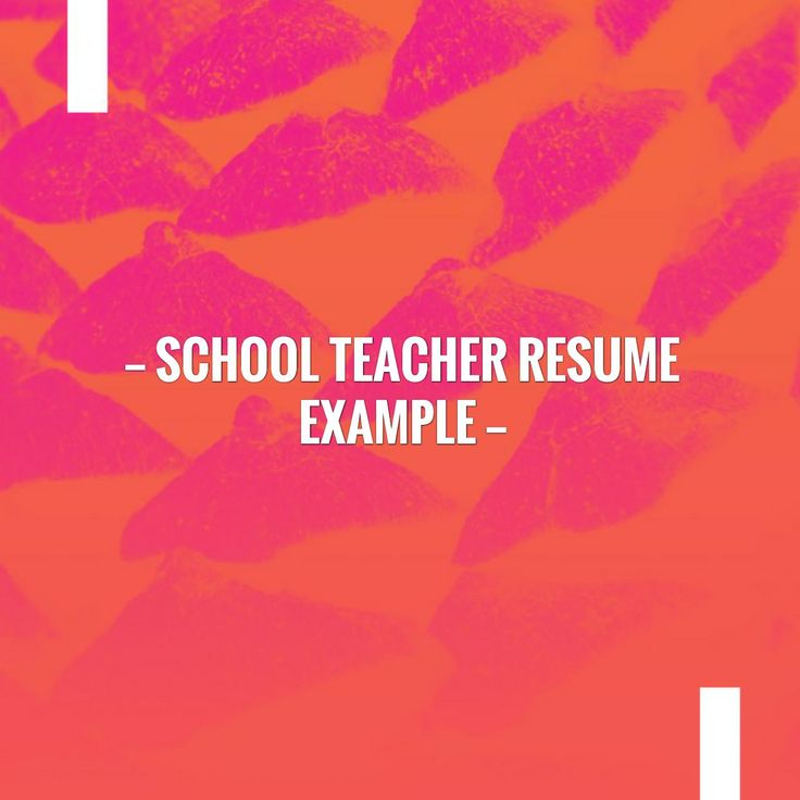 Take a breather and catch up with my blog School Teacher Resume Example http://learn.jobisite.com/school-teacher-resume-example/?utm_campaign=crowdfire&utm_content=crowdfire&utm_medium=social&utm_source=pinterest