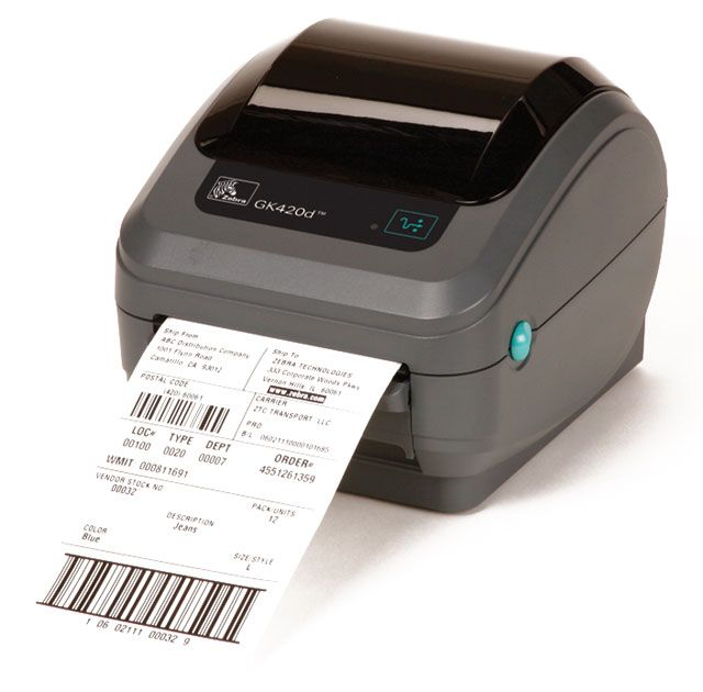 #ZEBRAGK420D Direct Thermal Label Printer at wish a pos