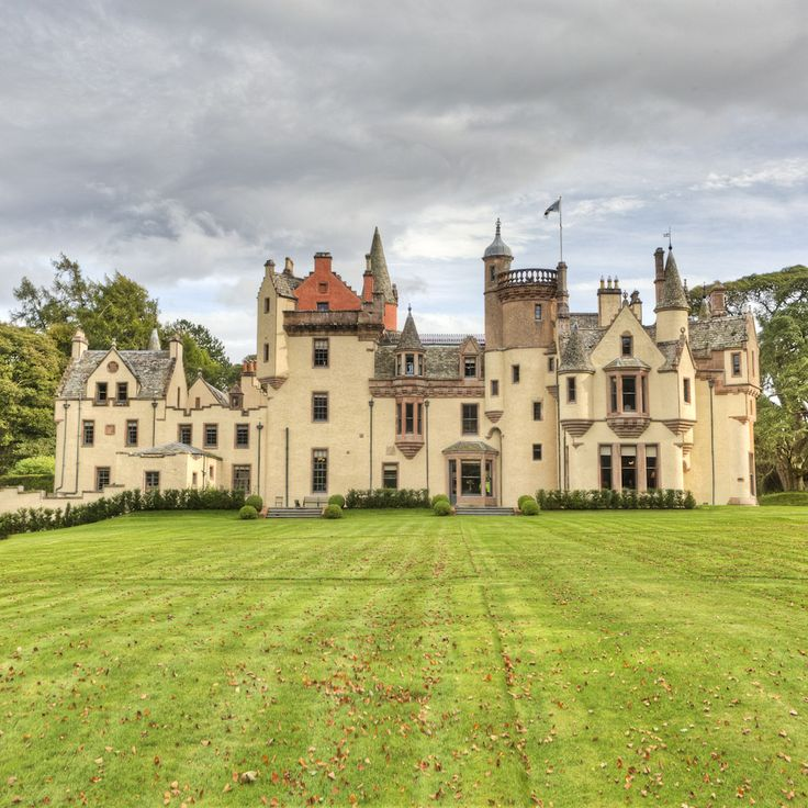 Aldourie is the only habitable Castle on the shores of Loch Ness and has occupied this site for hundreds of years.  This photo is from the rear of the Castle