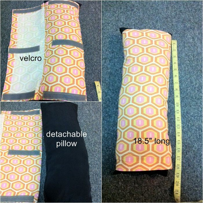 DIY seat belt neck support pillow | idoublera