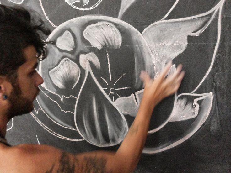Proceso de Diseño - Mural de Miguel Dïaz, estudiante de la #academiaSuperiorDeArtes.