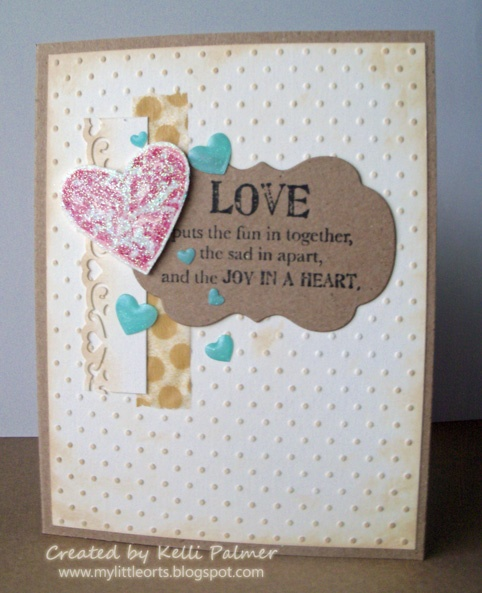 My Little Orts by pinkpigg33: Love puts the fun in together, the sad in apart and the JOY IN A HEART.