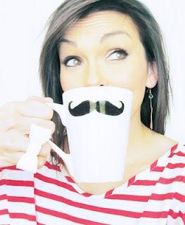 Kandee Johnson's DIY mustache mug